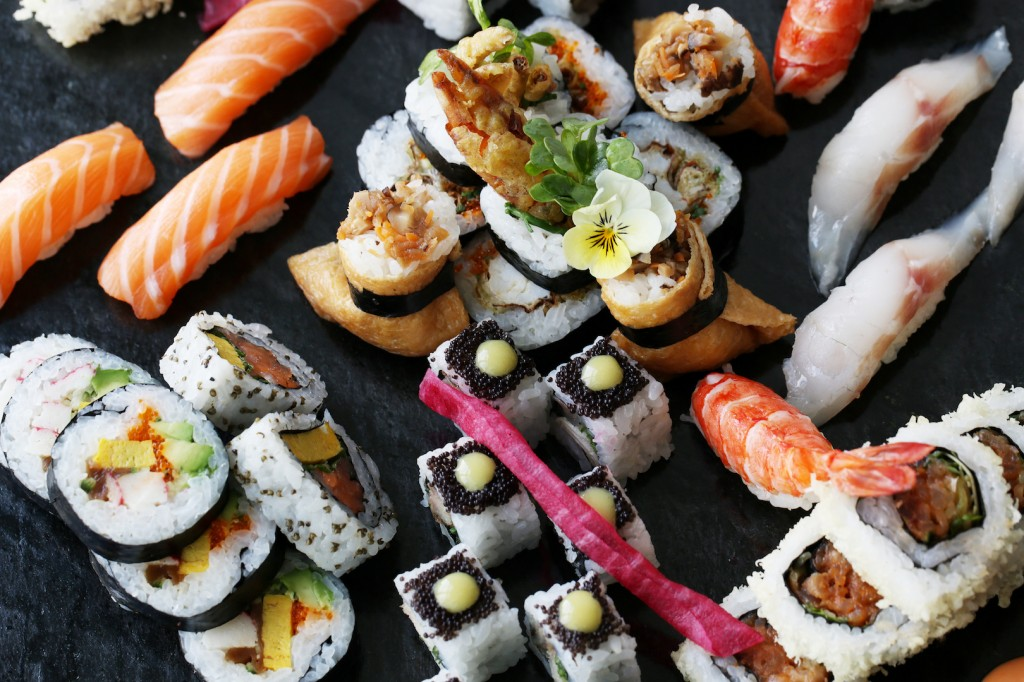 The stunning sushi platter that is just part of aqua kyoto Infinity Brunch