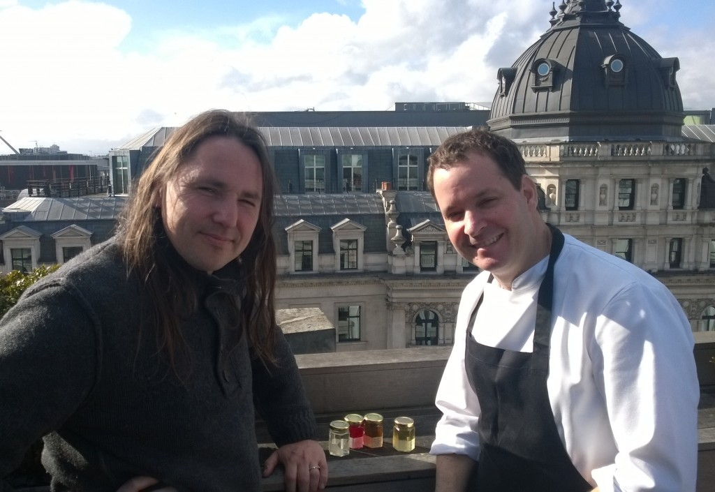 aqua kyoto chef Paul Greening with 'The Forager' Miles Irving