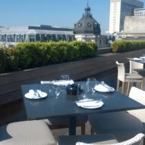 the aqua nueva terrace in the sunshine