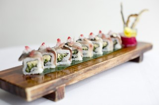 Mackerel & ginger maki roll