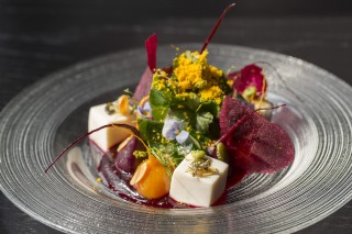 beetroot salad with silken tofu