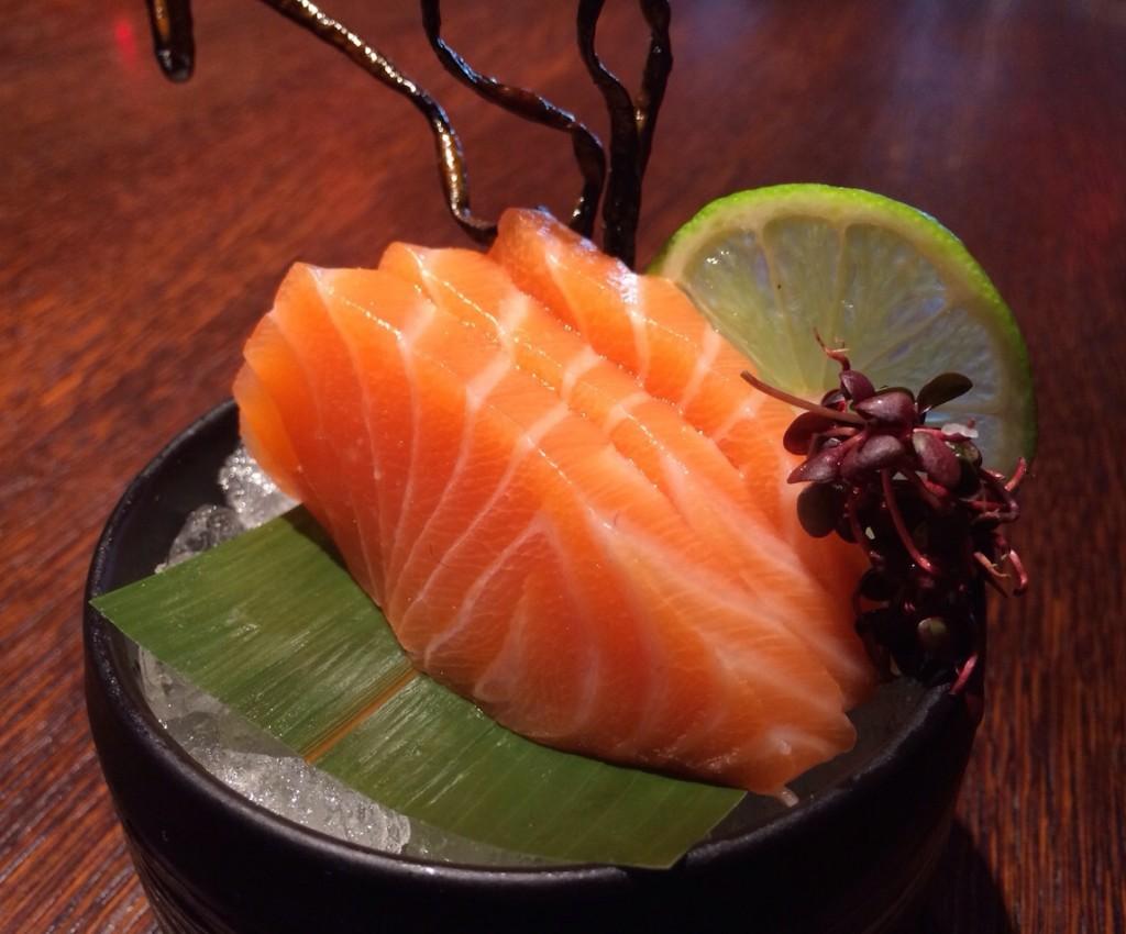 Salmon sashimi from our Festive Fuel menu