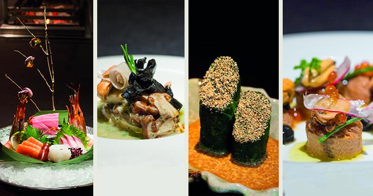 A selection of New Year Solutions dishes at aqua kyoto and aqua nueva