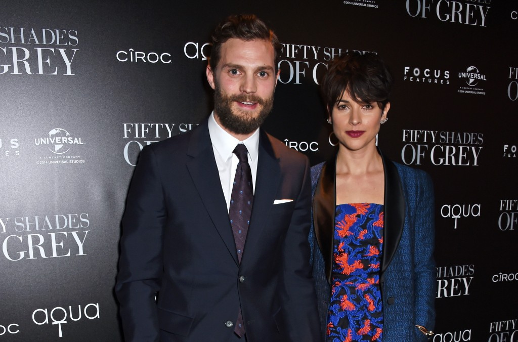 Jamie Dornan, star of Fifty Shades of Grey, and wife Amelia Warner at aqua london