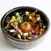 Spicy yukari egg rice